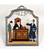 The Lawyer and the Judge Window Wall Hanging Wilhelm Schweizer