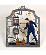The Electrician Window Wall Hanging  Wilhelm Schweizer
