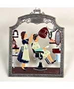 The Hairdresser Window Wall Hanging Wilhelm Schweizer