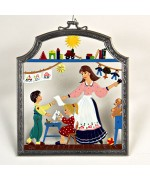 The Kindergarten Teacher Window Wall Hanging Wilhelm Schweizer