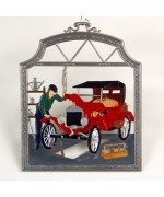 The Auto Mechanic Window Wall Hanging  Wilhelm Schweizer