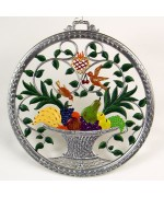 Beautiful Fruit Basket Window Wall Hanging Wilhelm Schweizer