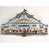Oktoberfest - Beer tent' Window Wall Hanging Wilhelm Schweizer