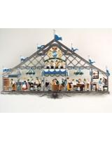 Oktoberfest - Beer tent' Window Wall Hanging Wilhelm Schweizer