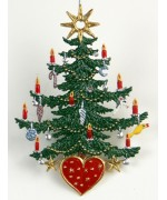TEMPORARILY OUT OF STOCK - Tree with Herz Christmas Pewter Wilhelm Schweizer