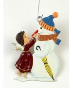 Engel mit Schneemann Christmas Pewter Wilhelm Schweizer