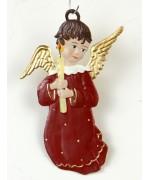 Engel mit Kerze Christmas Pewter Wilhelm Schweizer