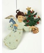 Engel mit Tannenbaum Christmas Pewter Wilhelm Schweizer