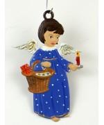 Engel mit Korb und Kerze Christmas Pewter Wilhelm Schweizer