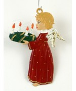 TEMPORARILY OUT OF STOCK - Engel mit Adventskranz Christmas Pewter Wilhelm Schweizer