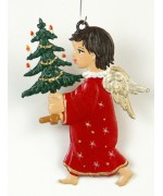 Engel traegt Tannenbaum Christmas Pewter Wilhelm Schweizer