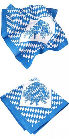 TEMPORARILY OUT OF STOCK <BR><BR> Oktoberfest Bavarian Handkerchief