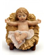 TEMPORARILY OUT OF STOCK Painted Baby Jesus in Manger