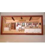 TEMPORARILY OUT OF STOCK - German wooden 3D-picture box-Diorama Butcher Painted