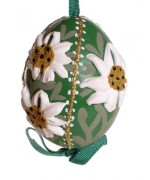 TEMPORARILY OUT OF STOCK - Peter Priess of Salzburg Hand Painted Easter Egg EDELWEISS
