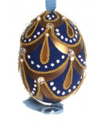 Peter Priess of Salzburg Hand Painted Egg CHRISTMAS