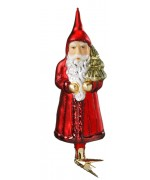 Inge-Glas German Glass Ornament Santa Claus with Clip