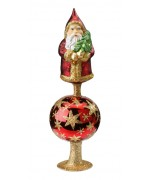 Inge-Glas German Glass Santa Claus Tree Topper