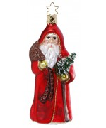 TEMPORARILY OUT OF STOCK <BR><BR> Inge-Glas German Glass Ornament Santa Claus