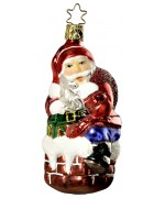 Inge-Glas German Glass Ornament Santa Claus