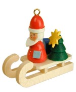 Christian Ulbricht German Ornament Santa Claus on Sleigh - TEMPORARILY OUT OF STOCK