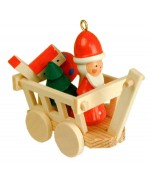 Christian Ulbricht German Ornament Santa Claus in Wagon