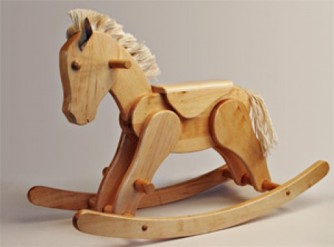 TEMPORARILY OUT OF STOCK - Large Handmade German Rocking Horse Erle
