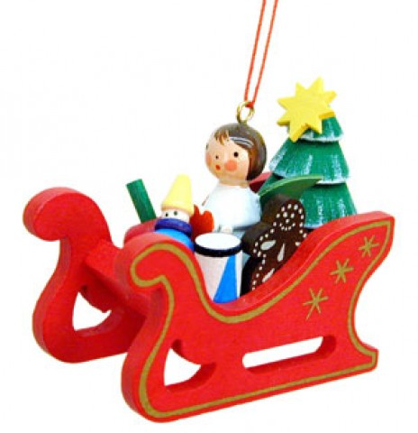 TEMPORARILY OUT OF STOCK - Christian Ulbricht German Ornament Angel on Sleigh