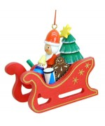 TEMPORARILY OUT OF STOCK - Christian Ulbricht German Ornament Santa on a Sleigh