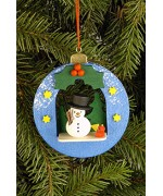 Christian Ulbricht German Ornament 'Christmas Ball with Snowman'