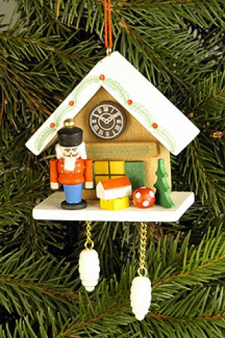 Christian Ulbricht German Ornament Cuckoo Clock with Nutcracker - TEMPORARILY OUT OF STOCK