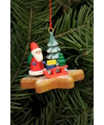 Santa Claus on Gingerbread Star Ornament Christian Ulbricht