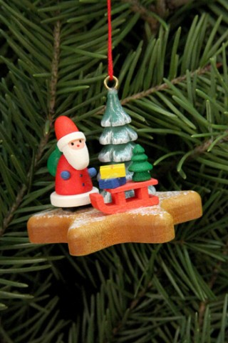 Santa Claus on Gingerbread Star Ornament Christian Ulbricht - TEMPORARILY OUT OF STOCK