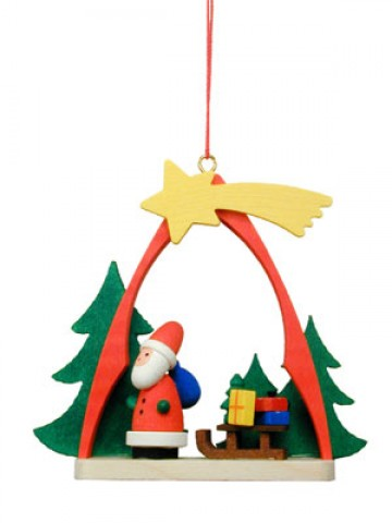 Christian Ulbricht German Ornament Santa and Shooting Star - TEMPORARILY OUT OF STOCK