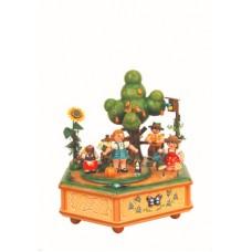 Unser kleiner Garten Music Box Original HUBRIG Wooden Figuren