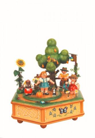 Unser kleiner Garten Music Box Original HUBRIG Wooden Figuren - TEMPORARILY OUT OF STOCK