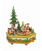 TEMPORARILY OUT OF STOCK - Auf, in den Wald Music Box Original HUBRIG Wooden Figuren