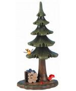 Sommerbaum mit Holzstapel' Original HUBRIG Wooden Figuren