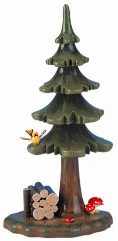 Sommerbaum mit Holzstapel' Original HUBRIG Wooden Figuren - TEMPORARILY OUT OF STOCK