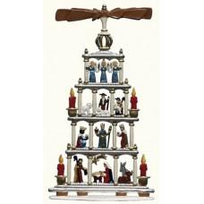 Wilhelm Schweizer Pewter Christmaspyramide