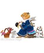 Angel with Animals Anno 2014 Christmas Pewter Wilhelm Schweizer