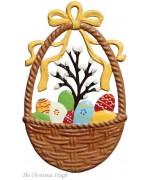 Wilhelm Schweizer Easter Oster Pewter Egg Basket