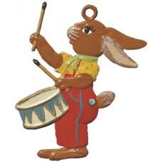 Wilhelm Schweizer Easter Oster Pewter Bunny Drummer
