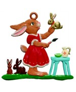 Wilhelm Schweizer Easter Oster Pewter Bunny Painting - TEMPORARILY OUT OF STOCK