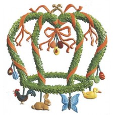Wilhelm Schweizer Easter Oster Pewter Easter Crown