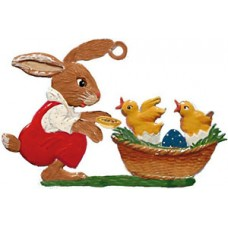 Wilhelm Schweizer Easter Oster Pewter Bunny Watching Peeps Hatch