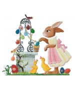Wilhelm Schweizer  Easter Oster Pewter  Anno 2011 Bunny at Well