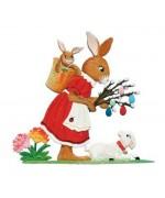 Wilhelm Schweizer  Easter Oster Pewter Anno 2012 Im Garten