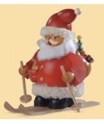 Mueller Smokerman Erzgebirge 'Skiing Santa Claus'