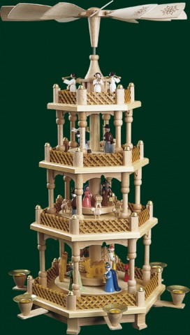 TEMPORARILY OUT OF STOCK <BR><BR>  Nativity 3 Tier Christmas Pyramid
